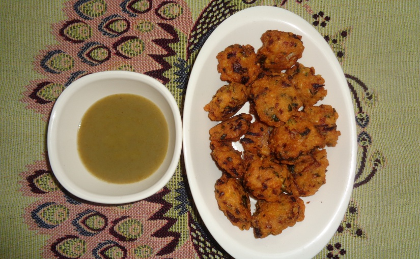 Red Lentil And Onion Fritters
