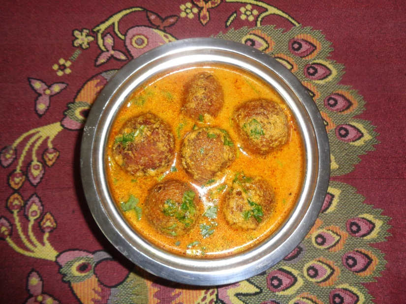Raw Papaya Kofta.