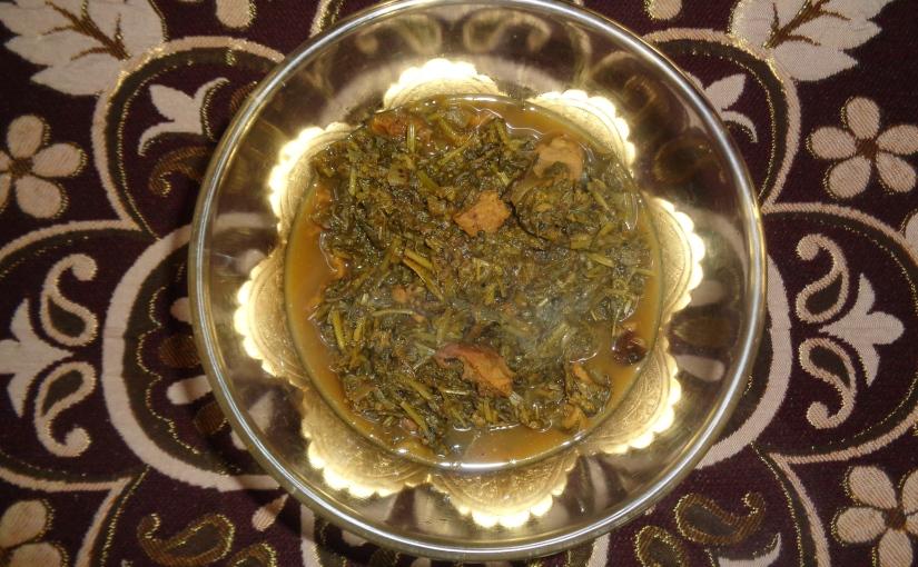 Bathua,Brinjal And BadiCurry