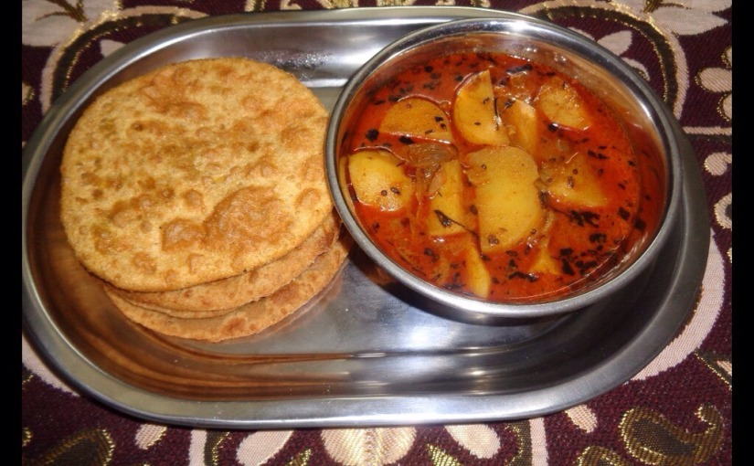 Split Bengal Gram Pooris With Potato Curry