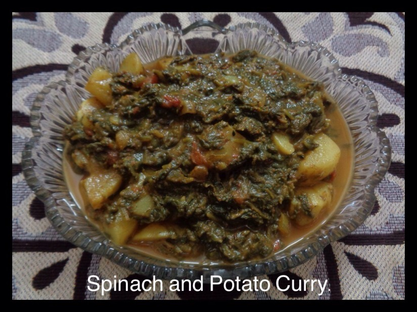 Spinach and Potato Curry.