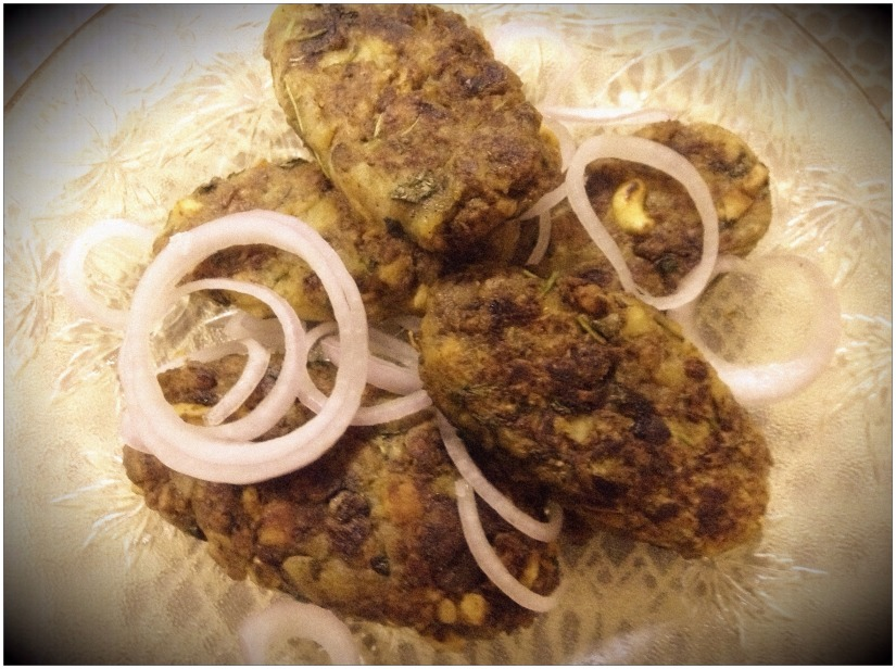 Potato and Keema Tikkis.