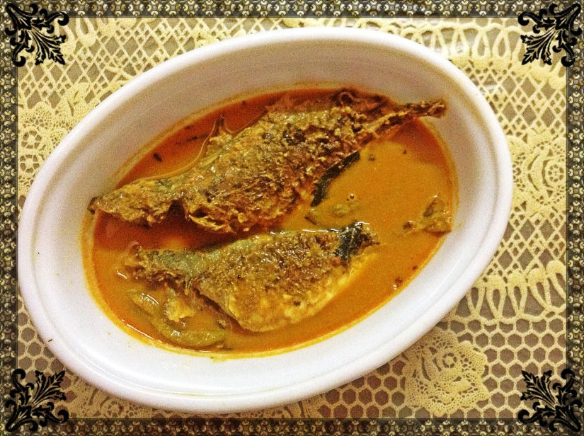 Fish curry with poppy and mustard.