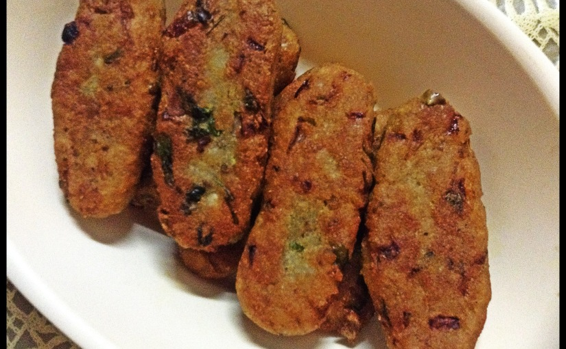 Beaten Rice And Potato Cutlets