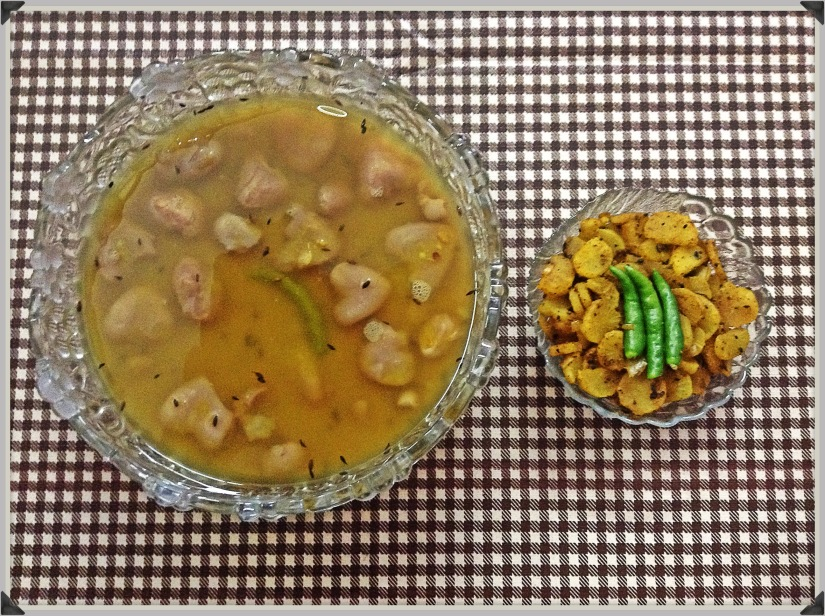Lentils with Water Chestnuts and Radish Fry