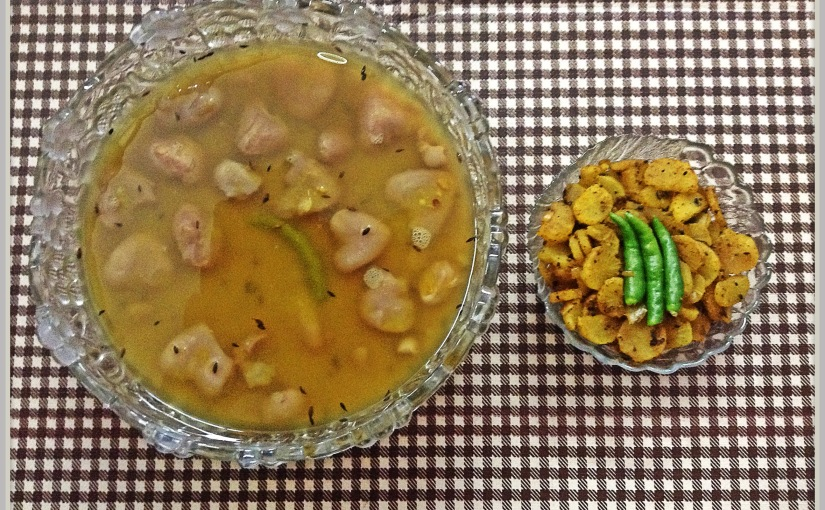 Lentil With Water Chestnuts And Radish Fry
