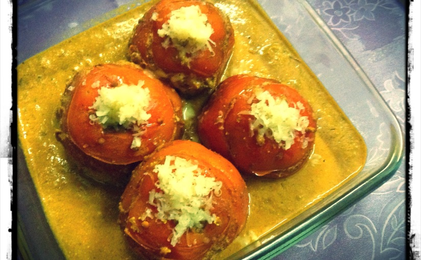 Creamy Stuffed Tomatoes