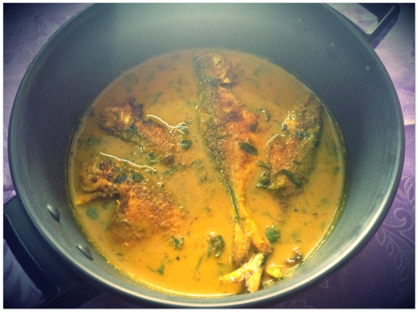 Fish curry with fenugreek,dill and radish