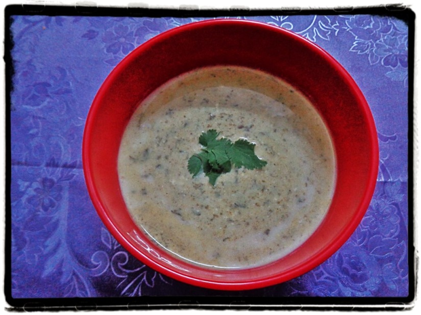 Spicy Green Raita