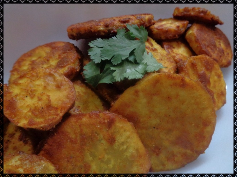 Shallow Fried Sweet Potatoes