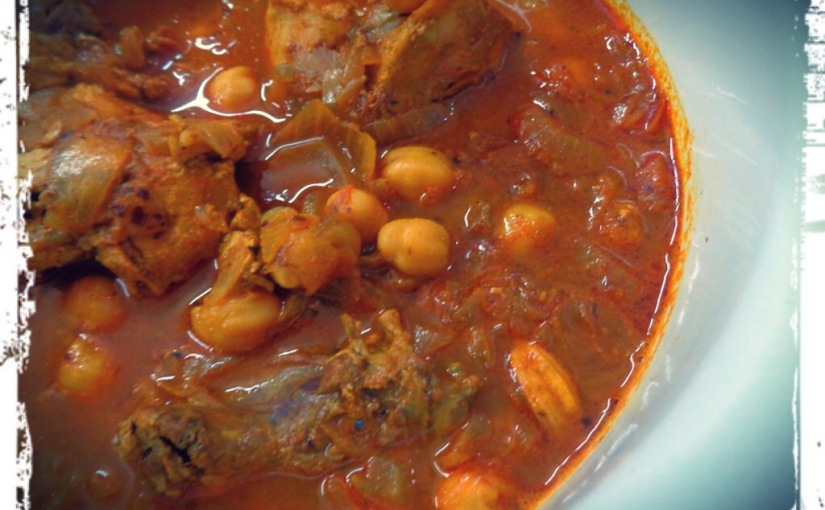 Chicken And Garbanzo Beans Curry
