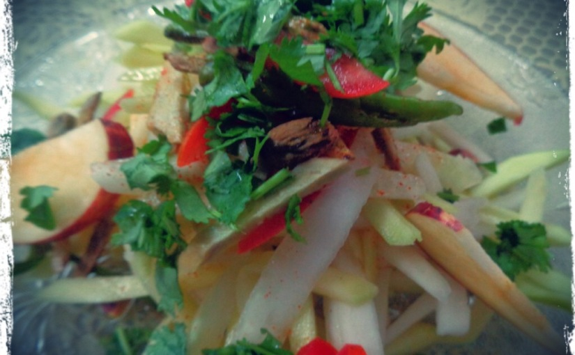 Raw Papaya And Mango Salad