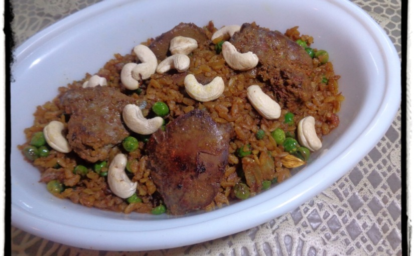 Mutton Liver With Beaten Rice