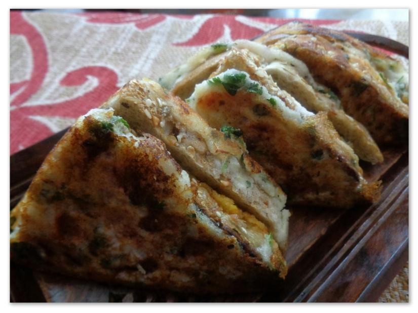 Bread Uttapam Sandwich