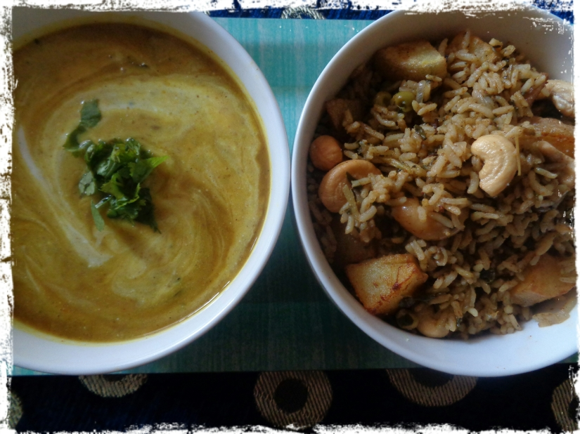 Fenugreek Rice with Split Pigeon Pea(ToorDal)Kadhi