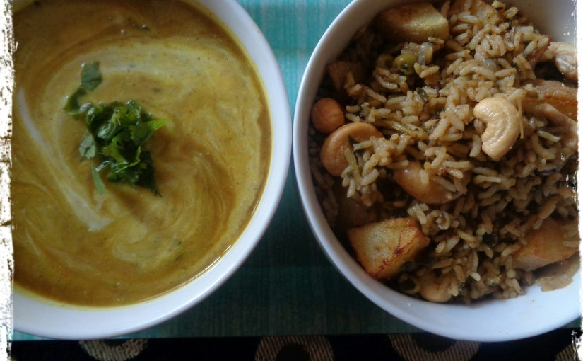 Fenugreek Rice with Split Pigeon Pea(Toor Dal)Kadhi