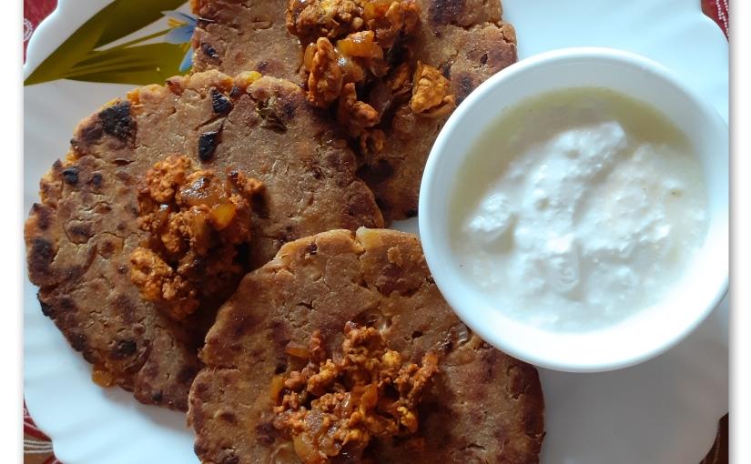 Maize Flour KeemaParantha