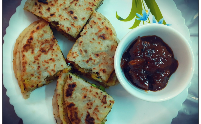 Rice Flour Parantha With Mango And Jaggery Pickle