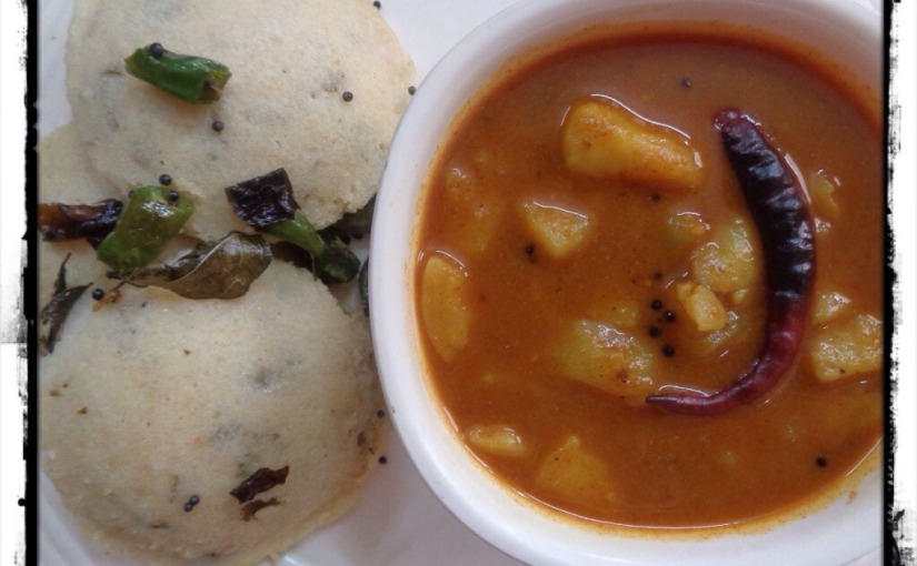 Chanadal Idli With Aloo Bhaji