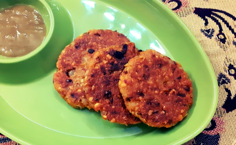 Shallow Fried Potato, Lentil, And Onion Tikkis