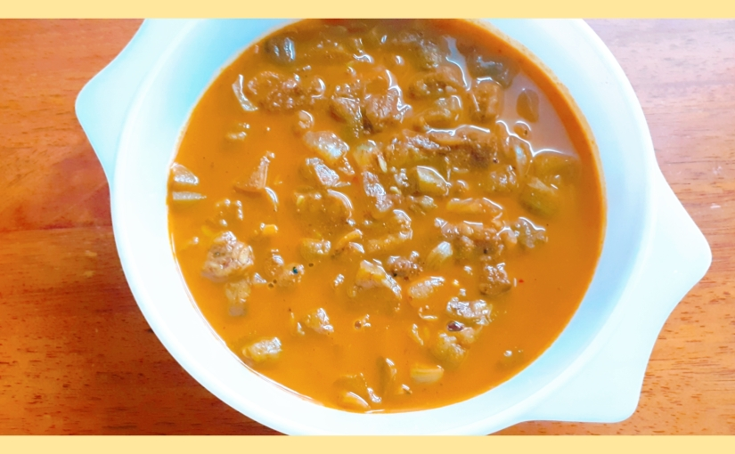 Ridge Gourd and FlaxseedCurry